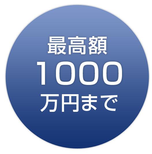 最高額1000万円まで